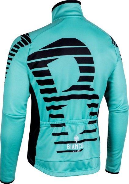 Chaqueta de ciclismo térmica Sebato (negro/celeste) - Bianchi Milano (I18-4300)