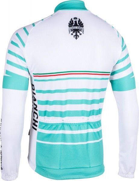 Bianchi Milano Appiano Radtrikot langarm weiß/celeste (I18-4300) Größe XXL (6)