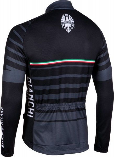 Bianchi Milano Appiano Radtrikot langarm schwarz (I18-4000) Größe XL (5)