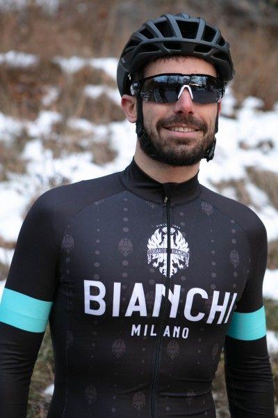 Bianchi Milano Perticara Radtrikot langarm schwarz 2