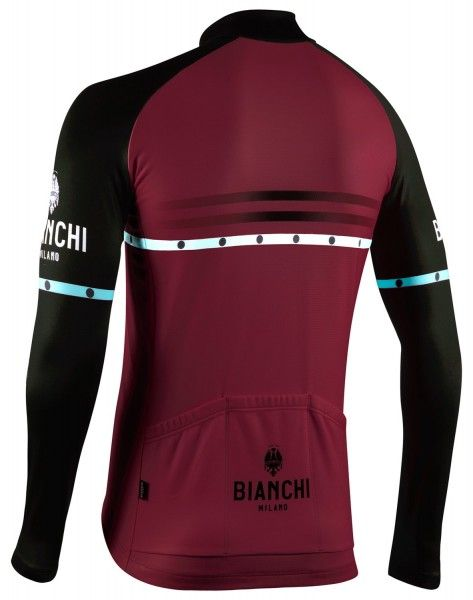 Bianchi Milano Piantedo Fahrrad Langarmtrikot bordeaux rot 2