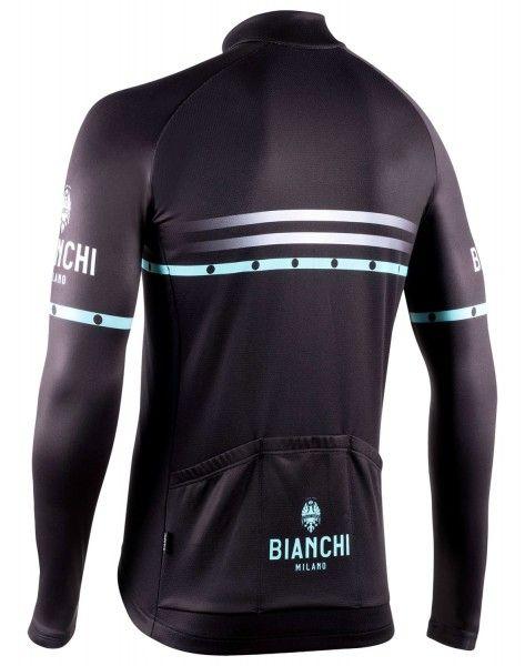 Bianchi Milano Piantedo Fahrrad Langarmtrikot schwarz 2
