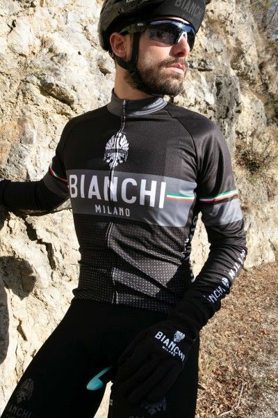 Bianchi Milano Sillaro Radtrikot langarm schwarz 2