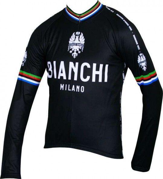 Bianchi Milano LEGGENDA Langarmtrikot - Campione del Mondo schwarz (I18-4000) Größe XXXL (7)