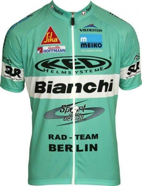 BIANCHI BERLIN Set (Kurzarmtrikot langer RV + Trägerhose) - Nalini Radsport-Profi-Team