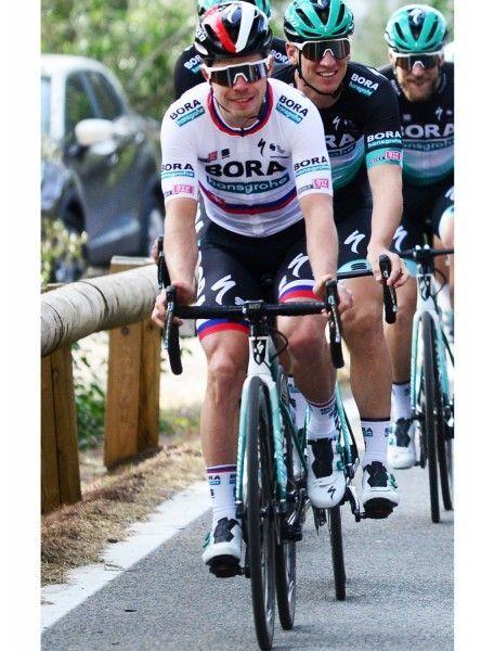 BORA-hansgrohe slovakian champion 2020 set (jersey short sleeve + bib shorts) - Sportful professional cycling team