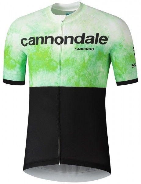 Set de ciclismo (maillot manga corta + culotte) del equipo Cannondale FACTORY RACING 2021 (negro) - Shimano