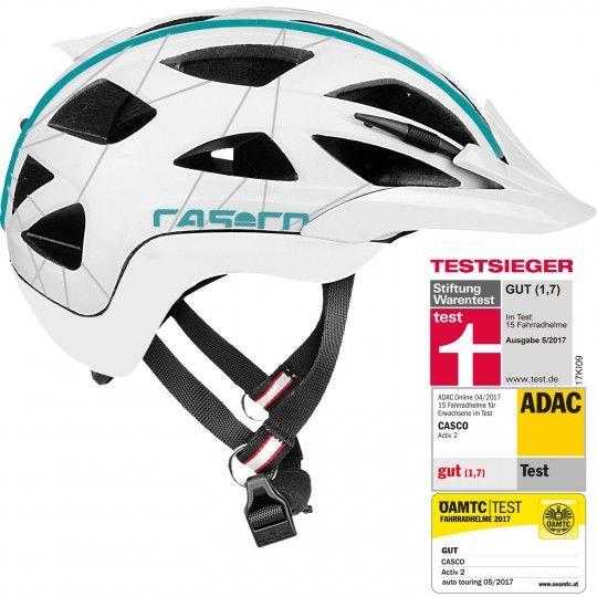 Casco ACTIC 2 FEMME Fahrradhelm weiß/blau 2