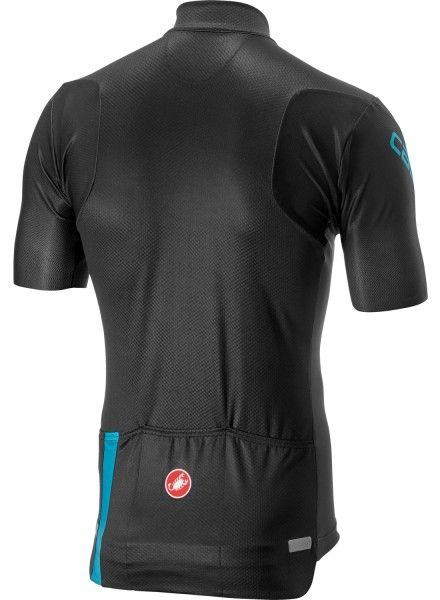 Castelli ENTRATA 3 short sleeve cycling jersey dark gray/sky blue