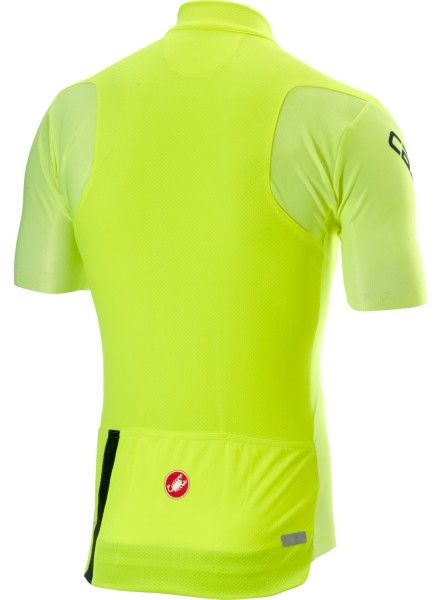 Castelli ENTRATA 3 short sleeve cycling jersey yellow fluo