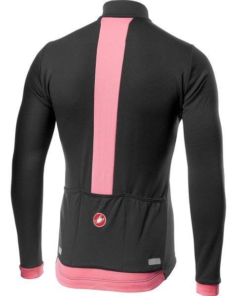 Castelli FONDO Radtrikot langarm dunkel grau/pink 2