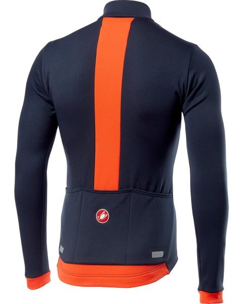 Castelli FONDO Radtrikot langarm dark steel blue/orange 2