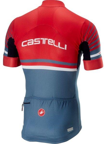 Castelli FREE AR 4.1 Radtrikot kurzarm rot/stahlblau 2