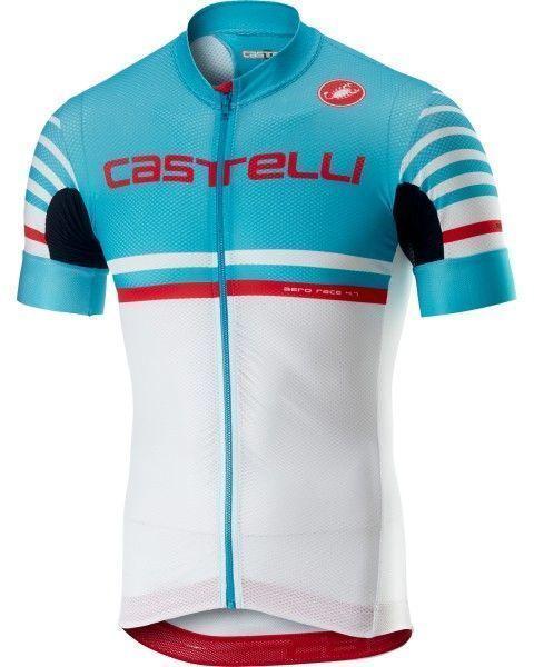 Castelli FREE AR 4.1 Radtrikot kurzarm sky blue/weiß 1