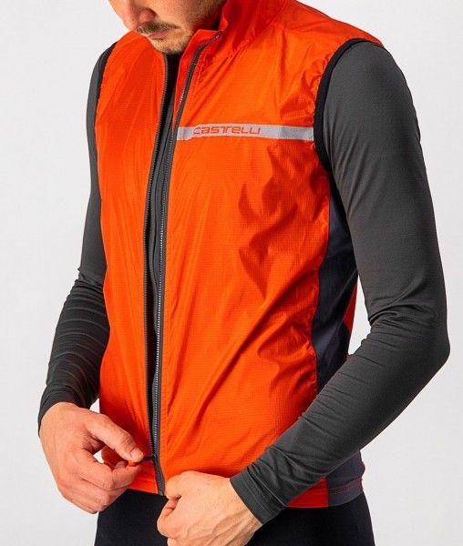 Castelli SQUADRA STRETCH VEST - Fahrradweste orange-rot 2
