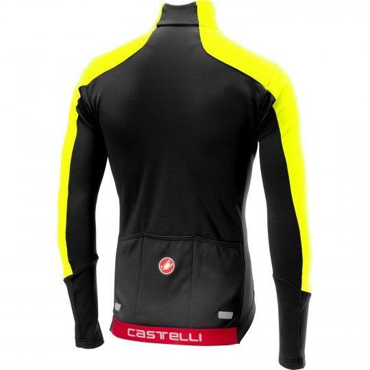 Maillot ciclista manga larga TRANSPARENTE 4 (negro/amarillo néon) - Castelli