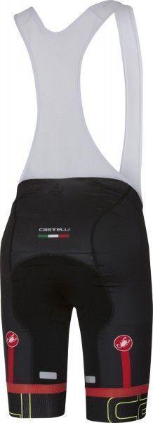 Castelli VOLO - Trägerhose kurz schwarz/neongelb Größe M (3)