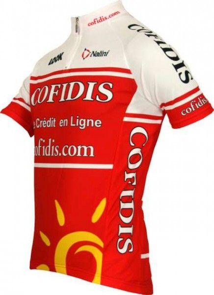 Cofidis 2011 Nalini Radsport-Profi-Team - Kinder Kurzarmtrikot mit kurzem Reißverschluss