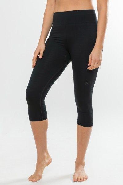 Craft Warm Comfort Knicker Damen 3/4 Unterhose schwarz 2