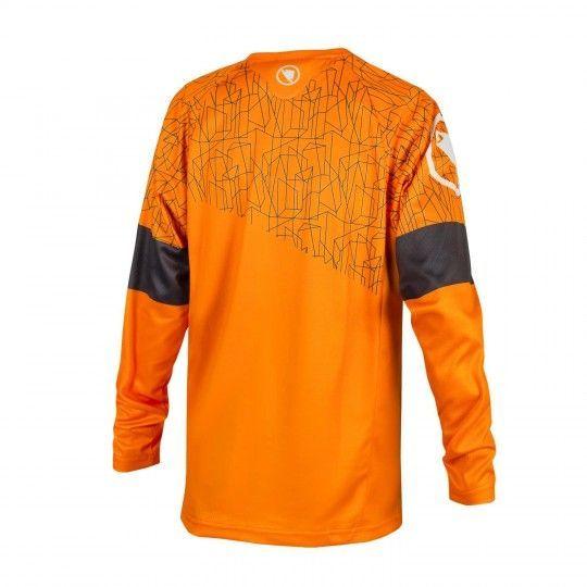 Endura MT500JR T II LTD kids long sleeve cycling jersey mango (E7133OM)