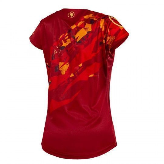 Endura WMS SINGLETRACK PRINT T LTD womens short sleeve jersey red (E6150RR)