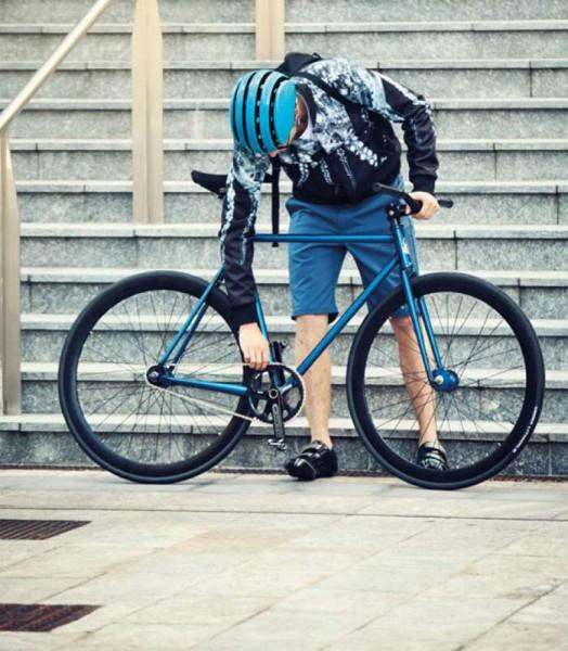 Carrera Fahrradhelm FOLDABLE schwarz glänzend Größe 55-58 cm