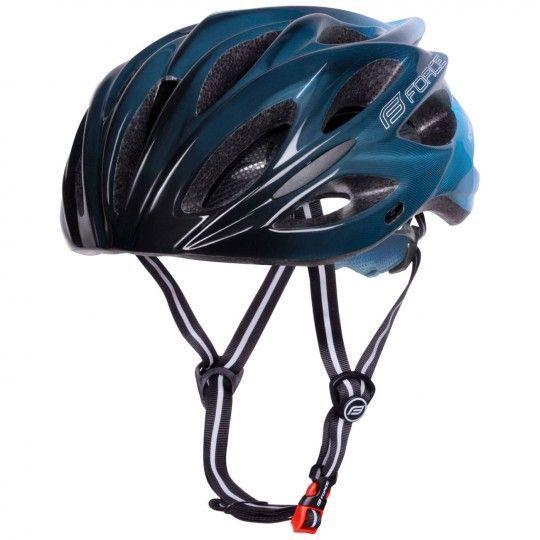 Force BULL HUE Fahrradhelm schwarz/blau 2