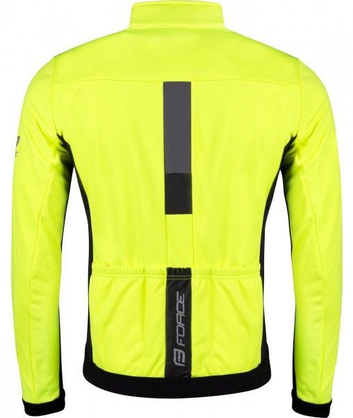 Force FROST Softshell Fahrradjacke neongelb 2
