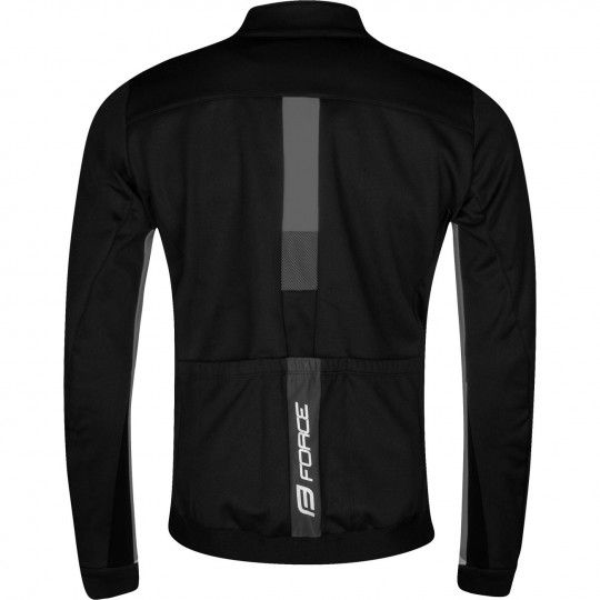 Force FROST Softshell Fahrradjacke schwarz/grau 2