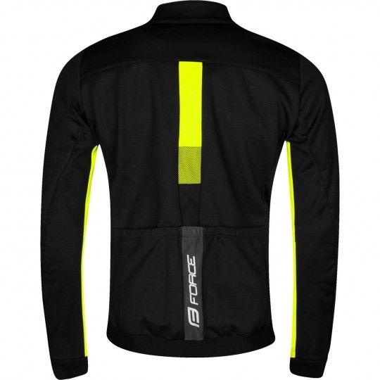 Force FROST Softshell Fahrradjacke schwarz/neongelb 2