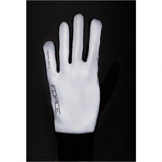 Force REFLECTIVE Handschuhe langfinger silber (90467) Größe L (9)
