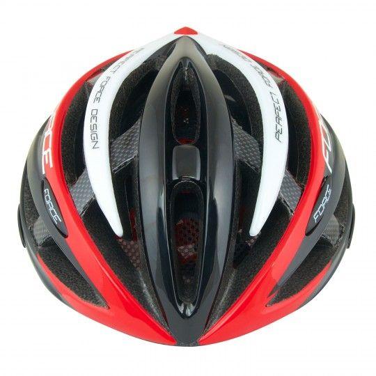 Force ROAD Fahrradhelm schwarz/rot/weiß 2