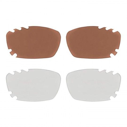 Wechselgläser Force VISION Rad-/ Sportbrille weiß/rot