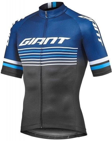 Giant RACE DAY cycling set (short sleeve jersey + bib shorts) blue/black (E19)