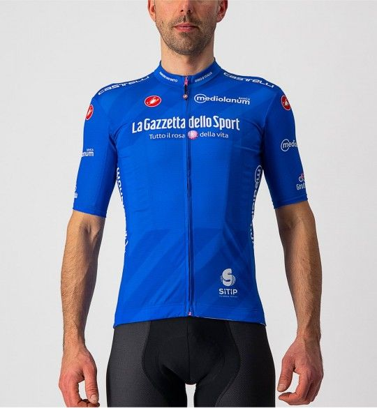 Giro d'Italia 2021 MAGLIA AZZURRO (Blau) Radtrikot kurzarm 2