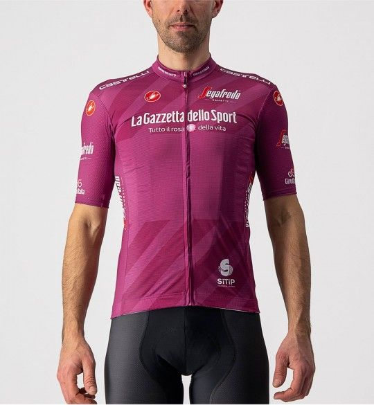 Maillot ciclista manga corta Giro d'Italia 2021 MAGLIA CICLAMINO (púrpura) - Castelli
