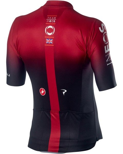 TEAM INEOS 2019 SQUADRA short sleeve cycling jersey (long zip) - Castelli professional cycling team