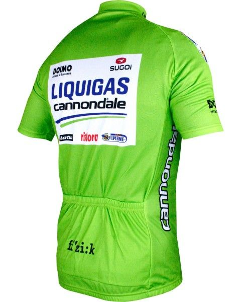 LIQUIGAS CANNONDALE - Tour Edition 2012 short sleeve cycling jersey (short zip) - professional cycling team