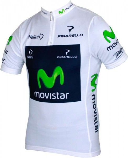 MOVISTAR best young profi 2013  Nalini professional cycling team - cycling jersey with short zip