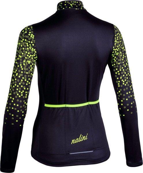 Nalini LW Lady Jersey 2.0 Langarmtrikot Damen schwarz/gelb 2