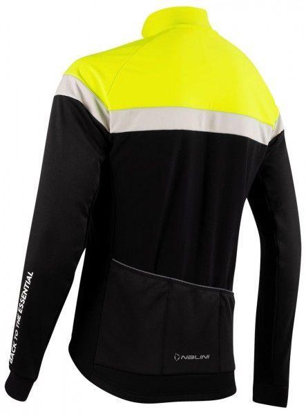 Nalini Road Jkt Fahrrad Winterjacke schwarz/neongelb 2
