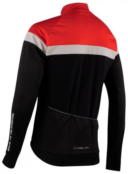 Nalini Road Jkt Fahrrad Winterjacke schwarz/rot 2