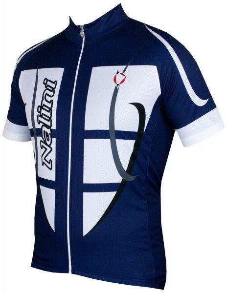 Nalini STEEL JERSEY Fahrrad-Kurzarmtrikot blau/weiß 2