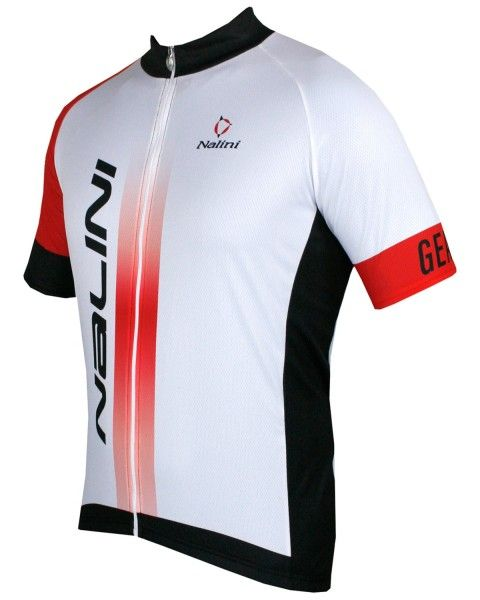 Übergröße Nalini STRIKE Fahrrad-Kurzarmtrikot weiß/rot 2