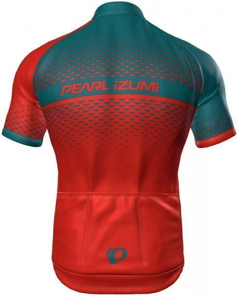 Pearl Izumi SELECT ESCAPE LTD short sleeve cycling jersey torch red/teal