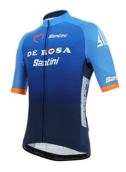 Übergröße TEAM DE ROSA SANTINI 2019 Radtrikot kurzarm - Radsport-Profi-Team