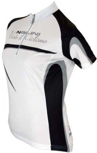 Sassolite weiß - Nalini BASE Damentrikot mit kurzen Ärmeln