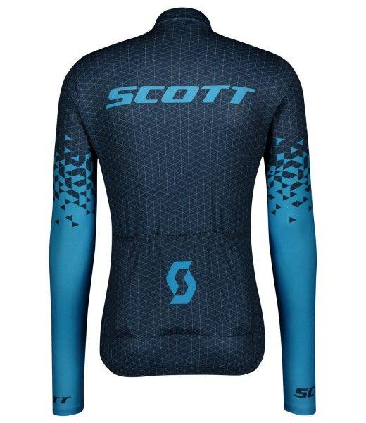 Scott RC TEAM 10 Radtrikot langarm blau 2
