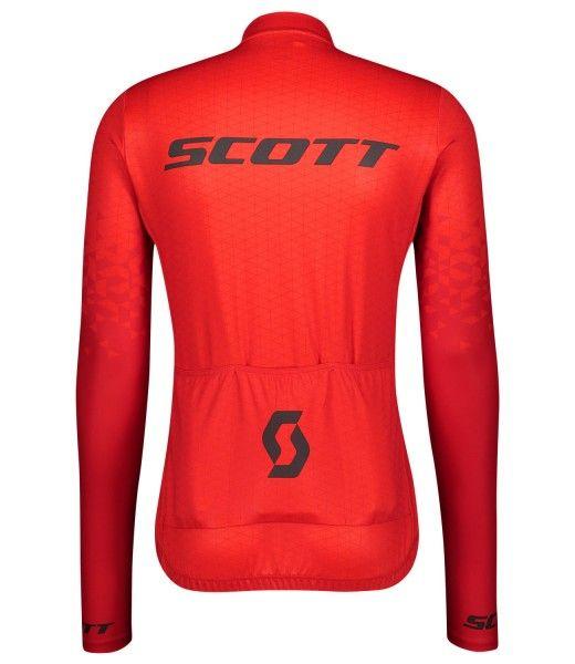 Scott RC TEAM 10 Radtrikot langarm rot 2