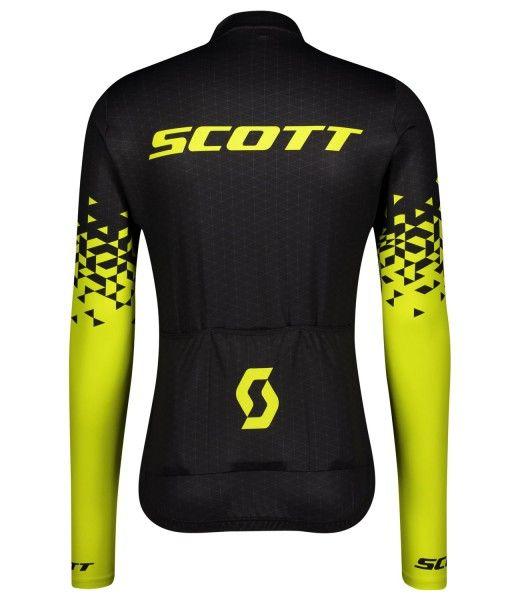 Scott RC TEAM 10 Radtrikot langarm schwarz/gelb 2